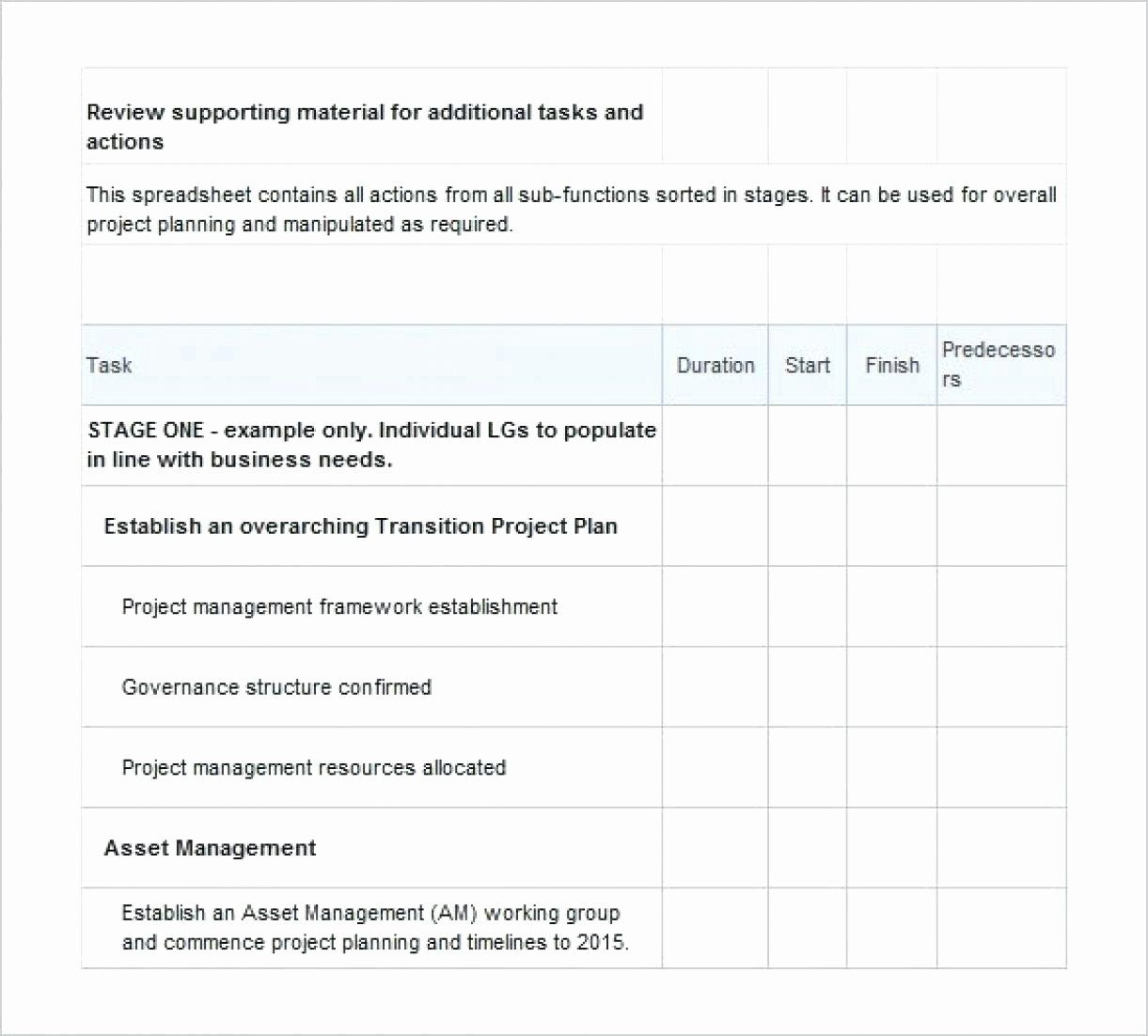 Project Management Transition Plan Template Awesome
