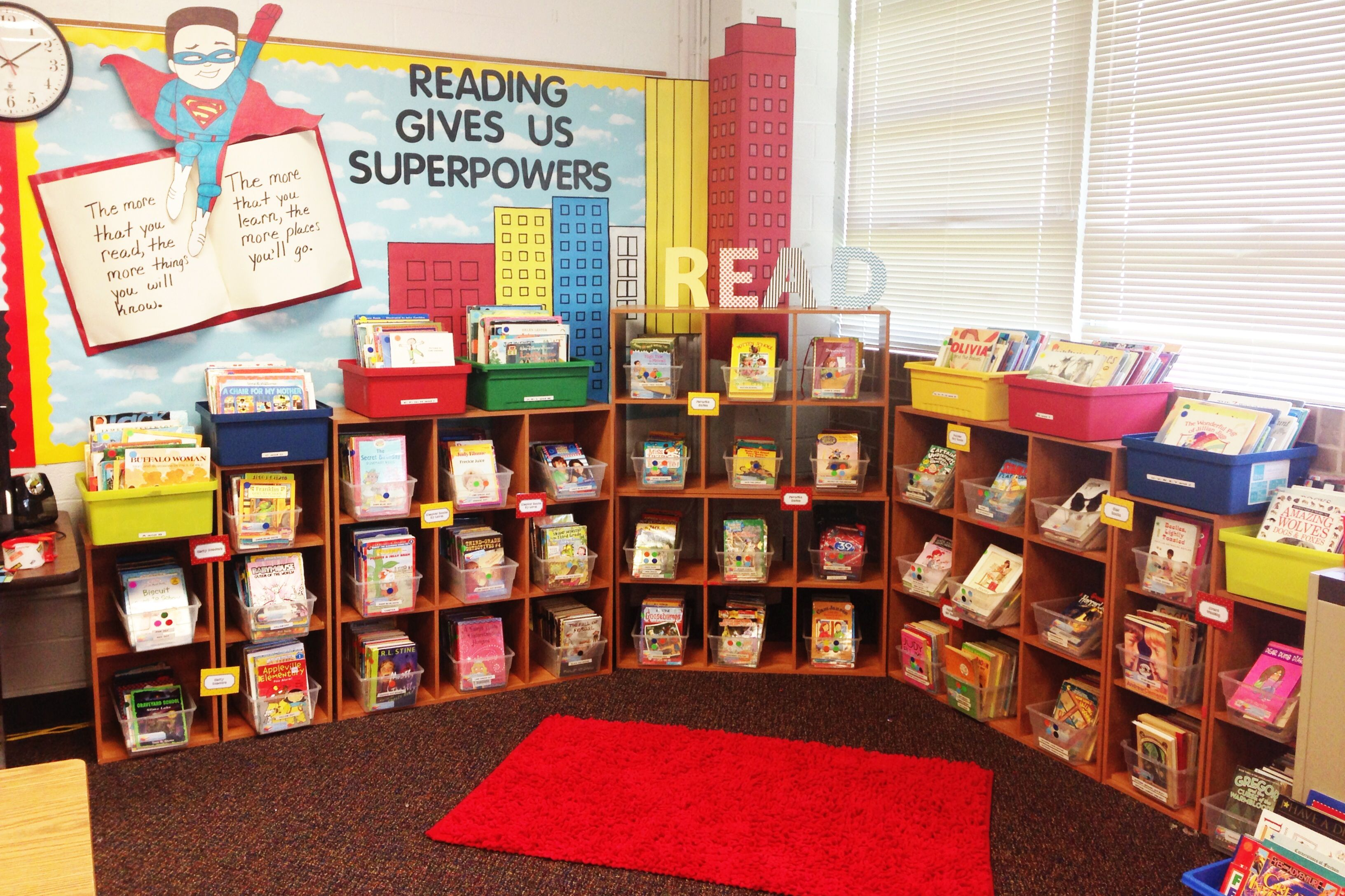 Superhero classroom library - smaller scale for playroom nook?