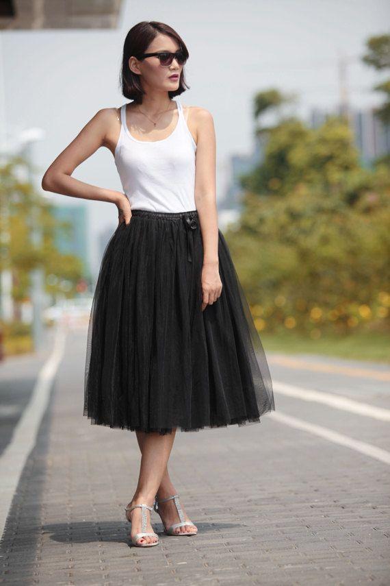 Tea Length Tulle Skirts