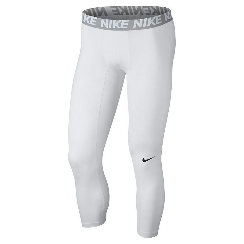 712bee4225212 Men's Nike Three-Quarter Base Layer Tights, White | Products | Nike ...