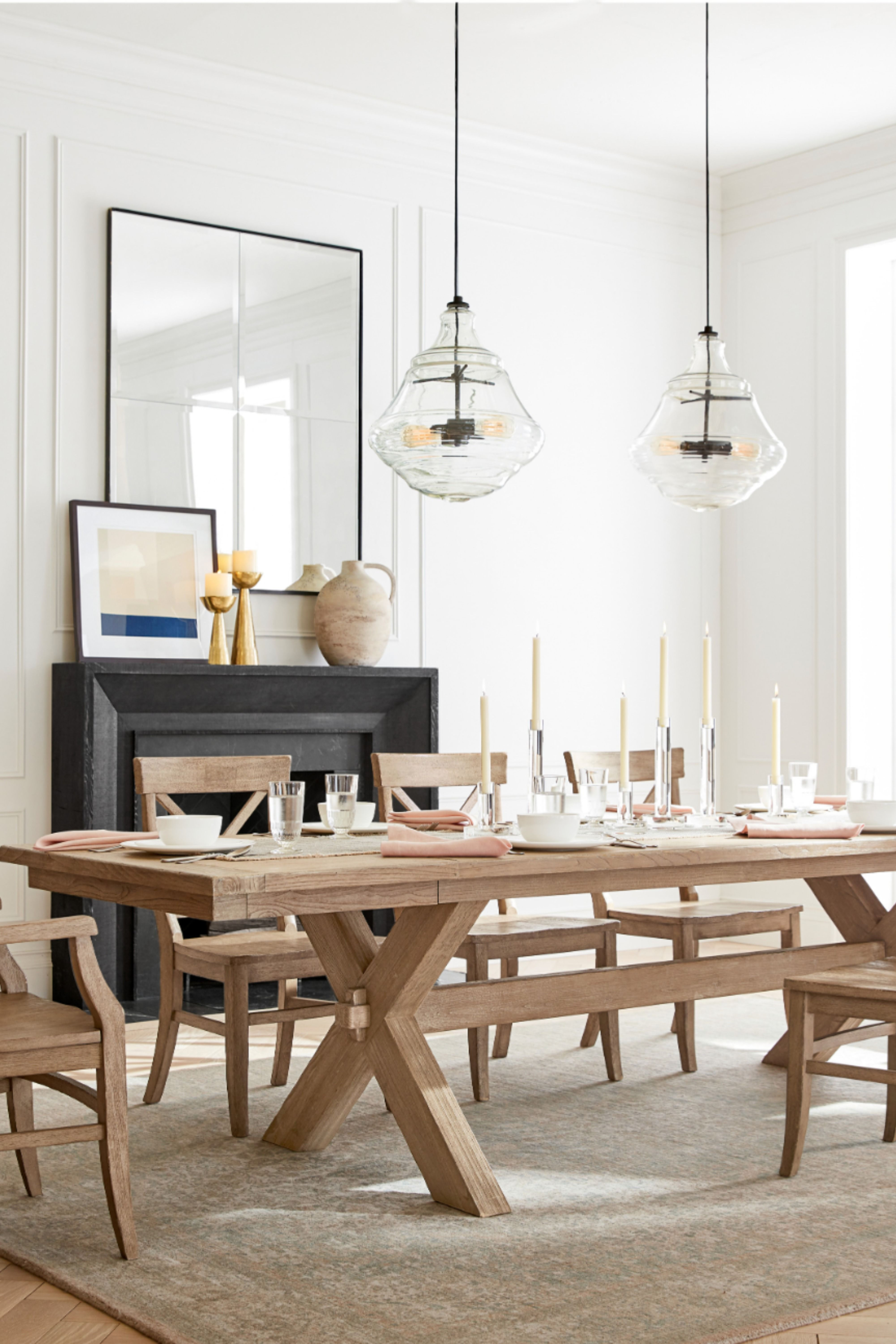 Pin by Pottery Barn on Dining Rooms in 20  Stylish dining room