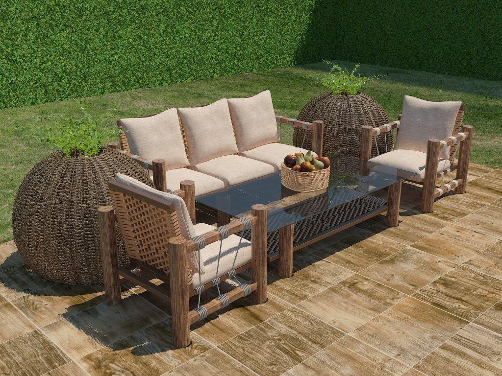 Piso sunwood interceramic cowboy fuentes patio y pisos for Azulejos para patios exteriores