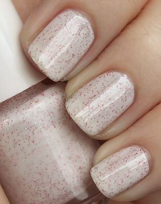 Make this spring glitter with:  Clear and white cream base with red and white micro fine glitter