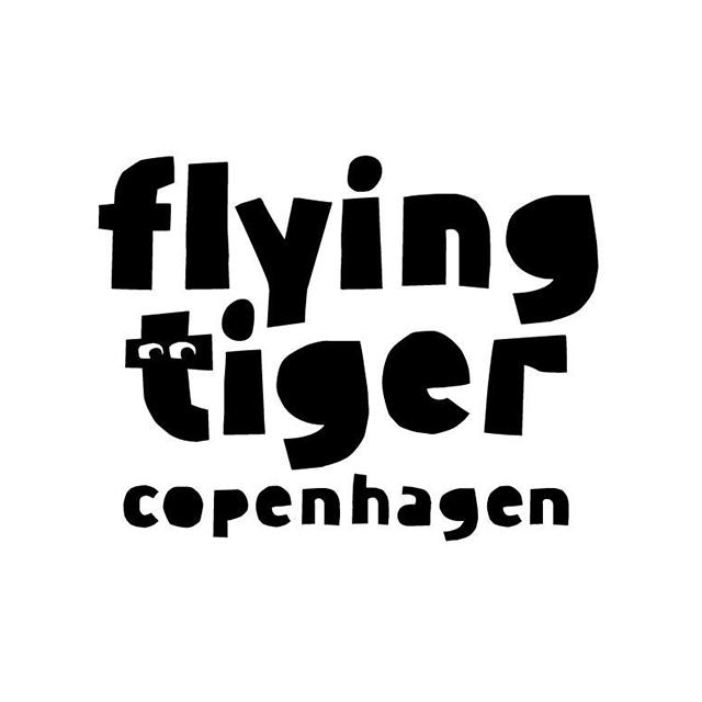 Flying Tiger Copenhagenのロゴ:動的な印象の遊び心あふれるロゴ   ロゴストック