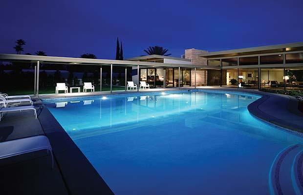 The Piano Shaped Swimming Pool At Frank Sinatra S 50 Palm Springs Home House 1 Of 2 Main Ones He Owned His There Called Twin Palms