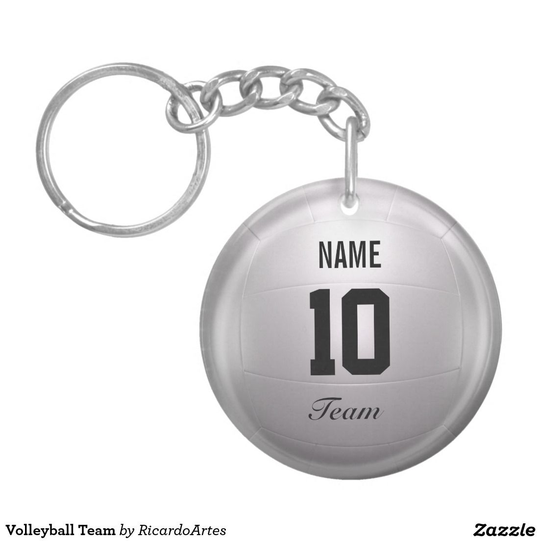 Volleyball Team Single Sided Round Acrylic Keychain Keychain Xmas Shopping Volleyball Team