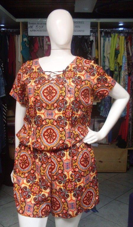 2638a0834 Macaquinho Plus Size Viscose - Vitória Moda Plus Size | dada modas ...