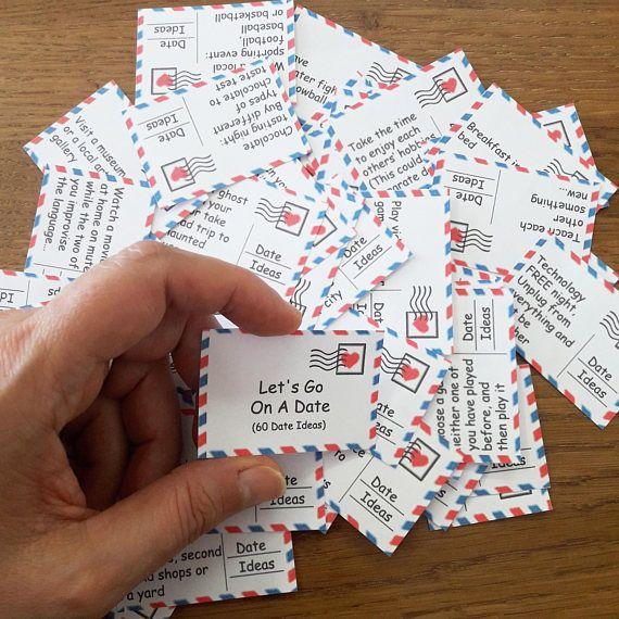 Date Night, 60 Printable Cards, Date Night Jar, Valentines