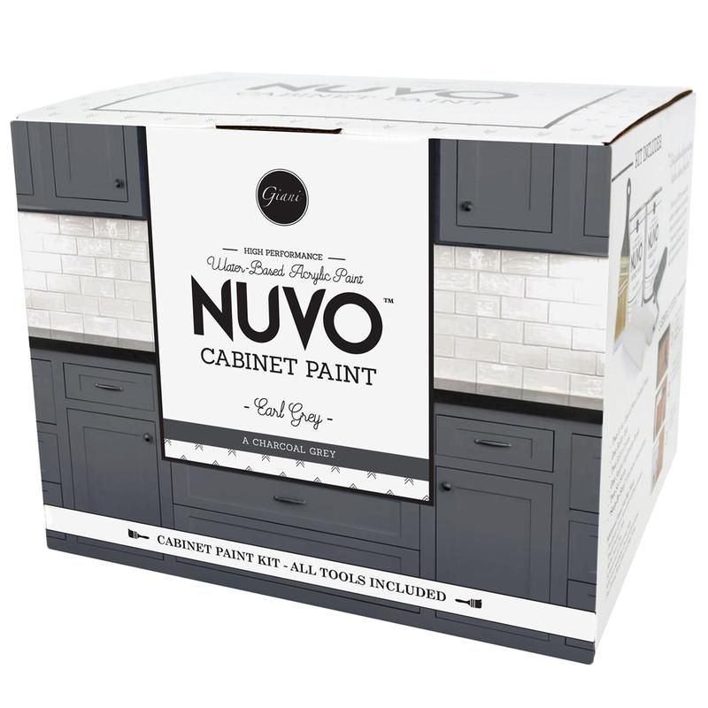 Best Nuvo Earl Grey Cabinet Paint Kit Nuvo Cabinet Paint 640 x 480
