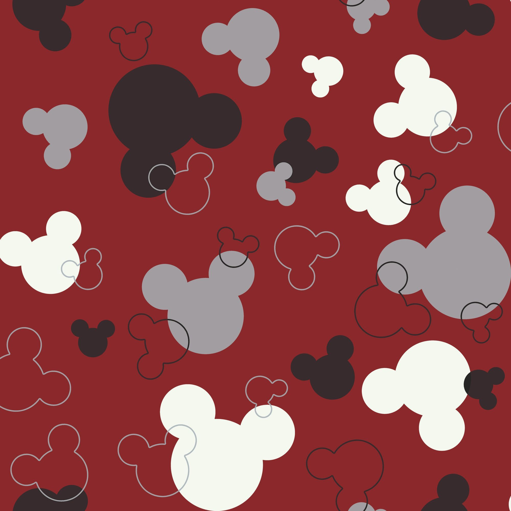 Room Mates Deco Mickey Mouse Heads 9 X 15 Abstract Border
