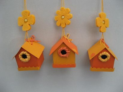 3 kleine vogelh uschen zum h ngen diverses pinterest. Black Bedroom Furniture Sets. Home Design Ideas