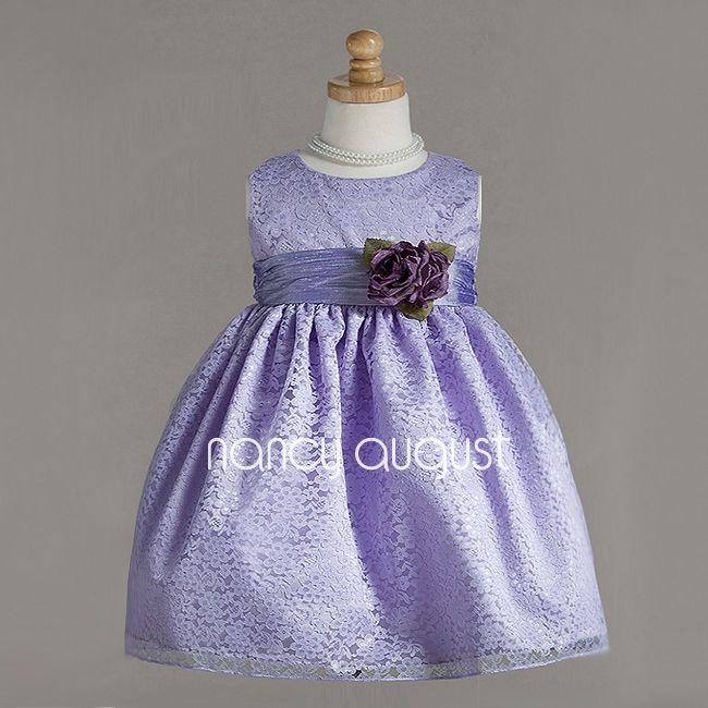 86f801231 Elegant Lavender Lace Baby Dress  This elegant lavender lace baby ...