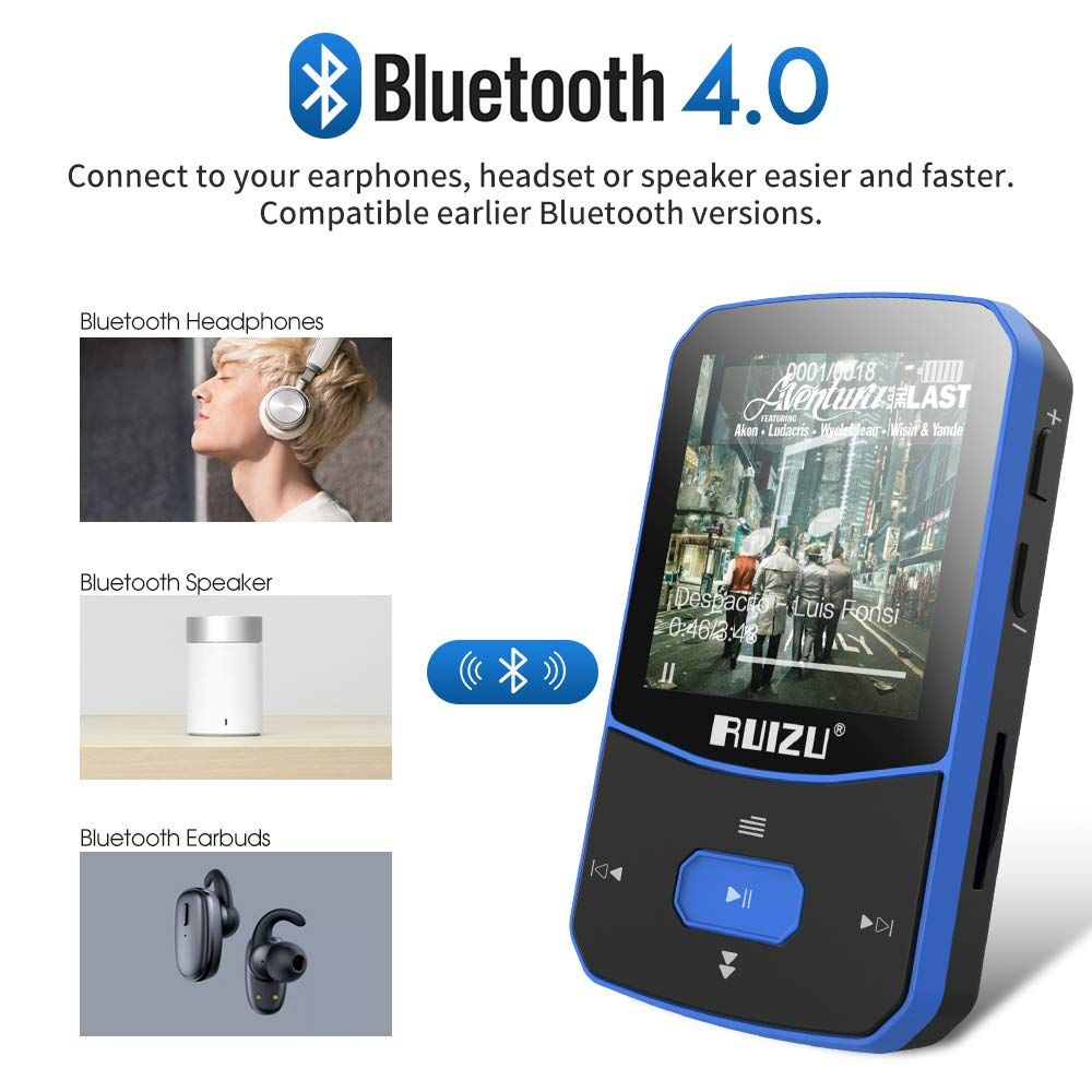 Best MP3 Player Bluetooth FM Radio Voice Recorder Mp3