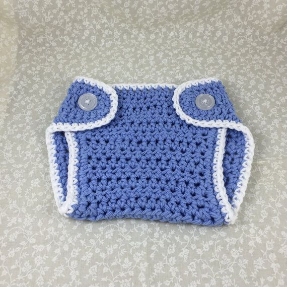 Crochet Diaper Cover Handmade Baby Blue by ForLittlePaws on Etsy Awesome baby shower gift