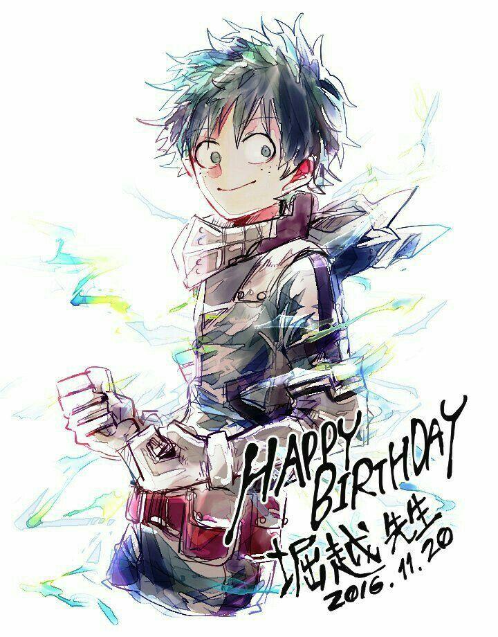 """Happy Birthday Izuku, text, Midoriya """"Deku"""" Izuku; My Hero"""