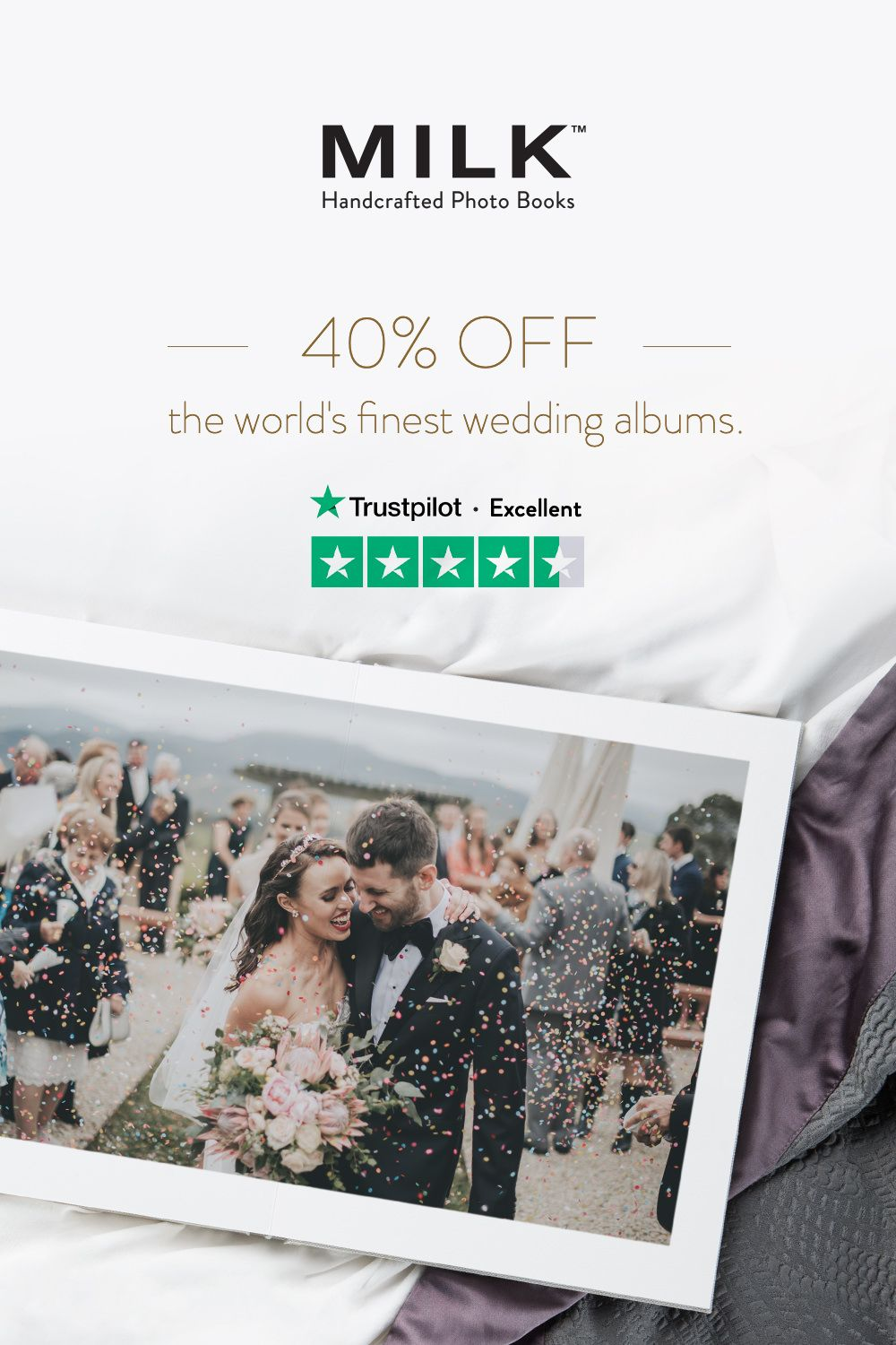 40% off wedding albums*