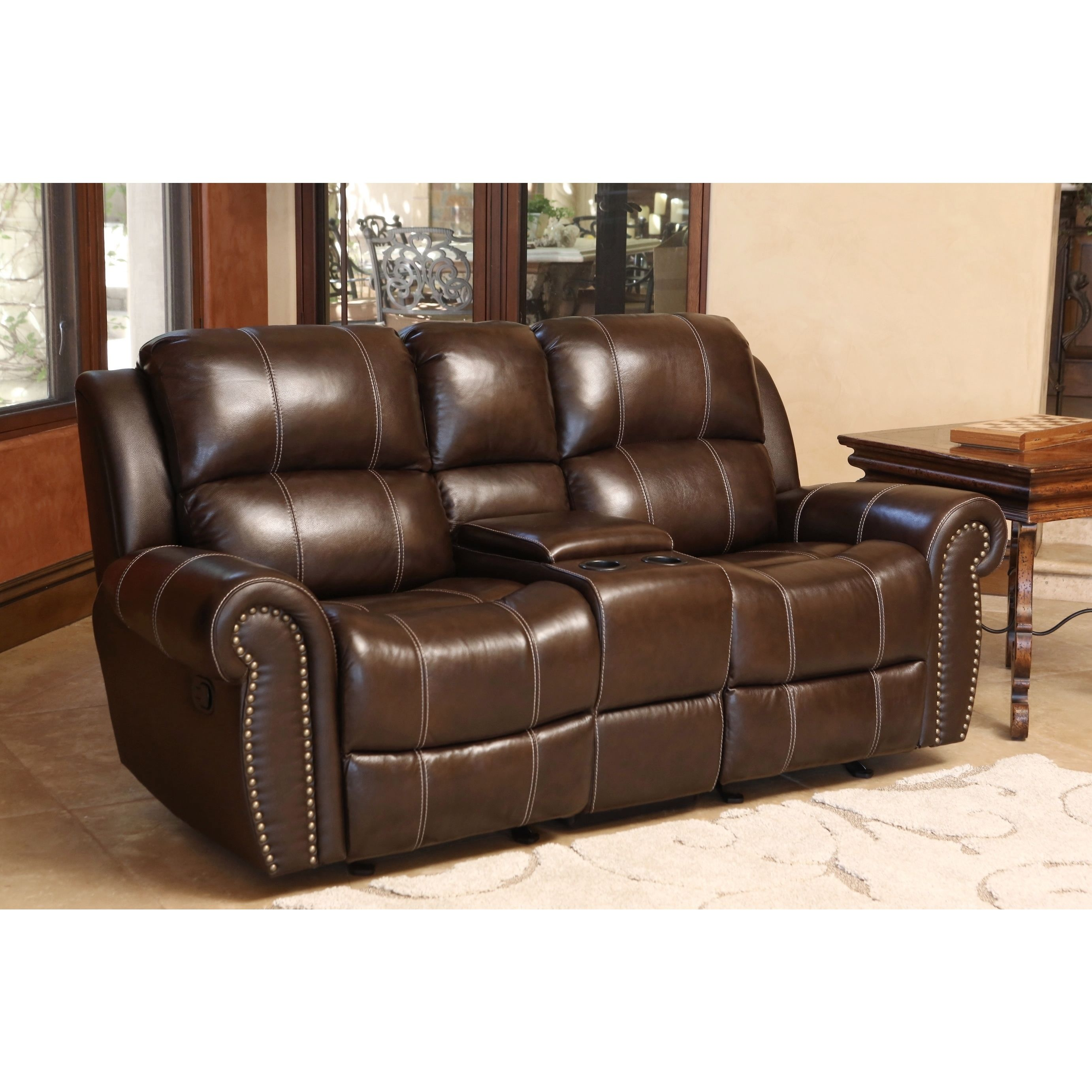 Chandler Top Grain Leather Power Sofa with USB Port