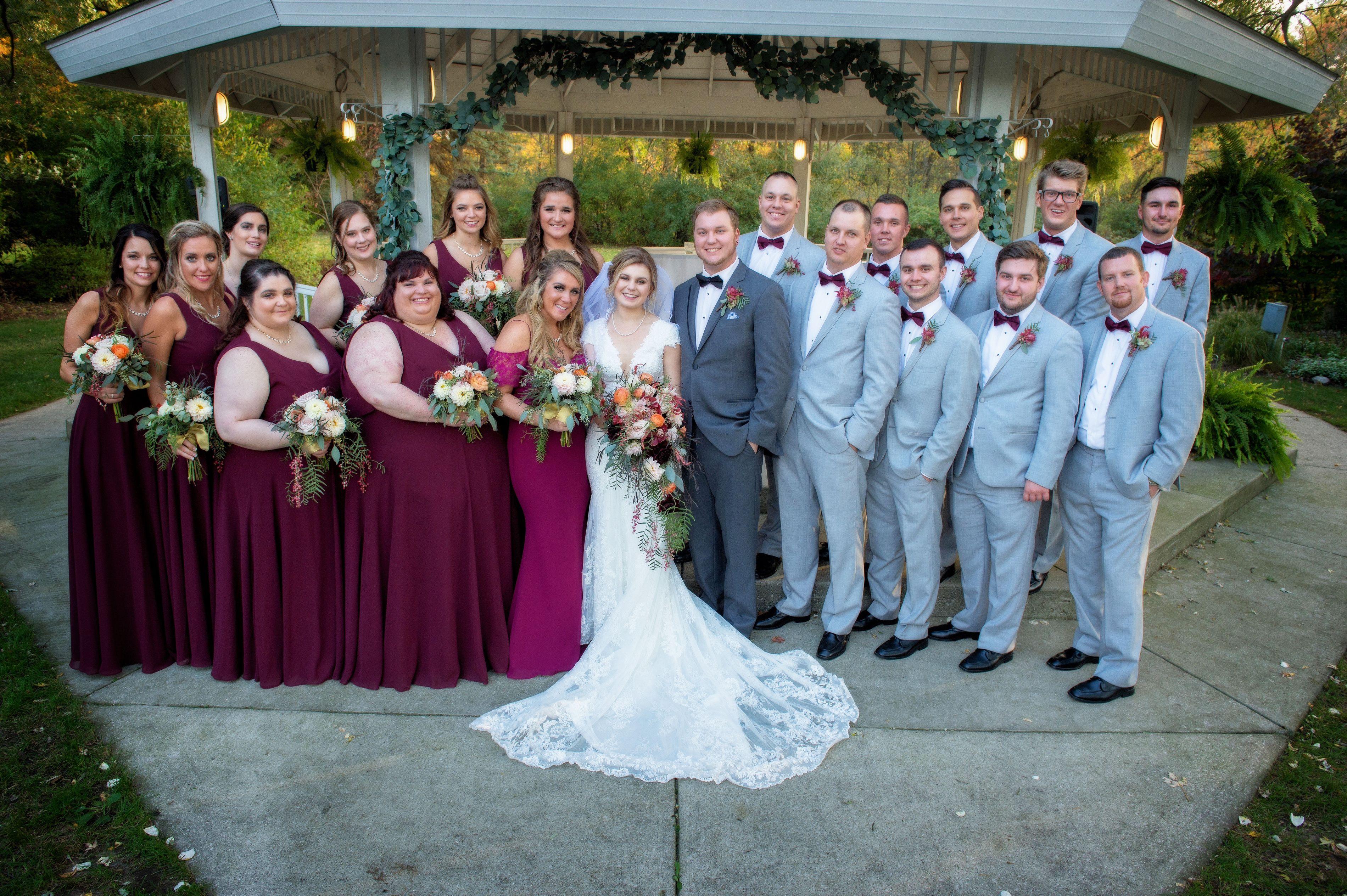 Fall wedding, burgundy and grey, whimsical wedding, faerie wedding ...