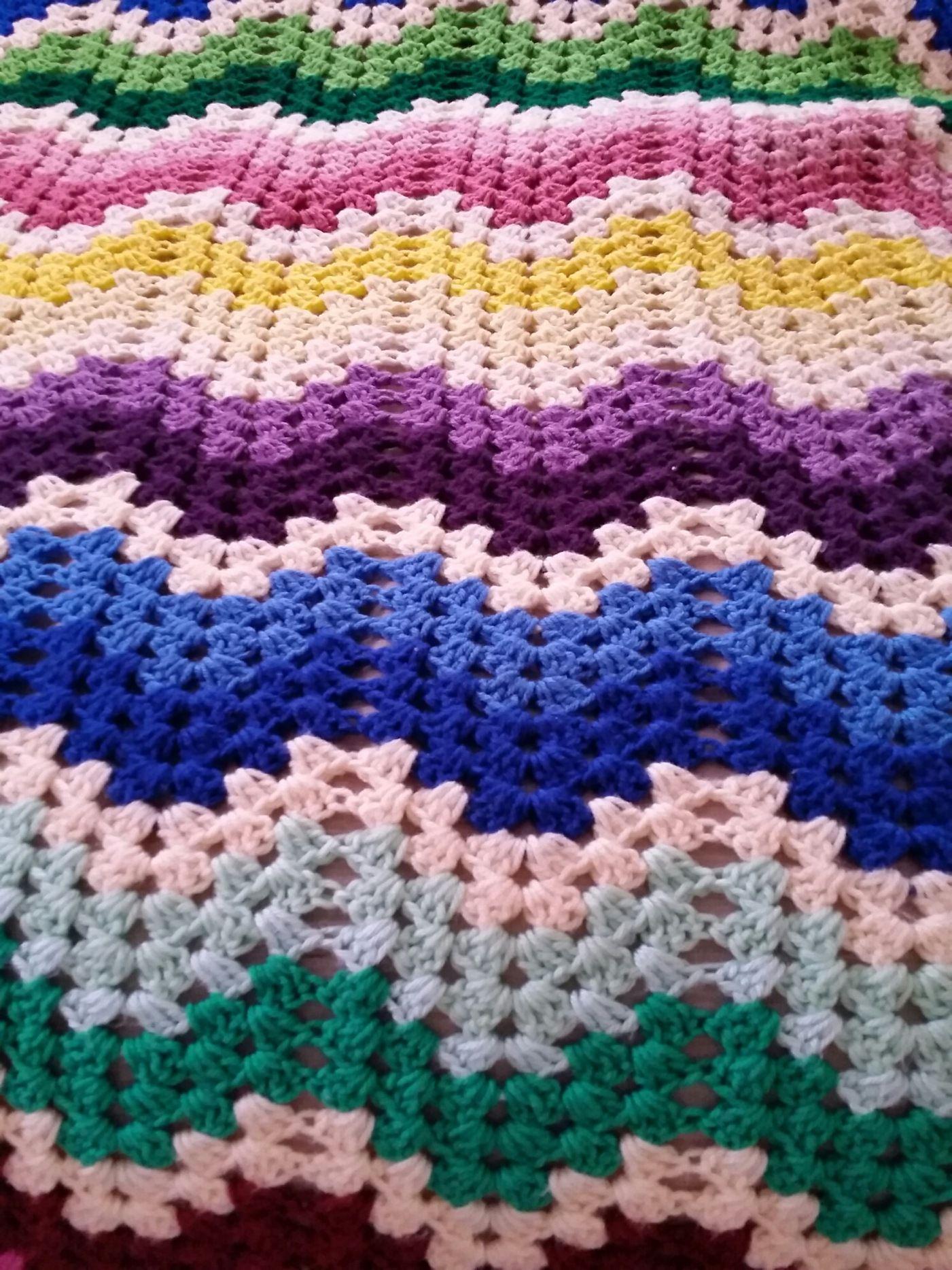 Granny ripple afghan | crochet afghan pattern and more | Pinterest ...