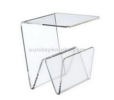 Clear Acrylic Table With Magazine Holder Chinese Manufacturer