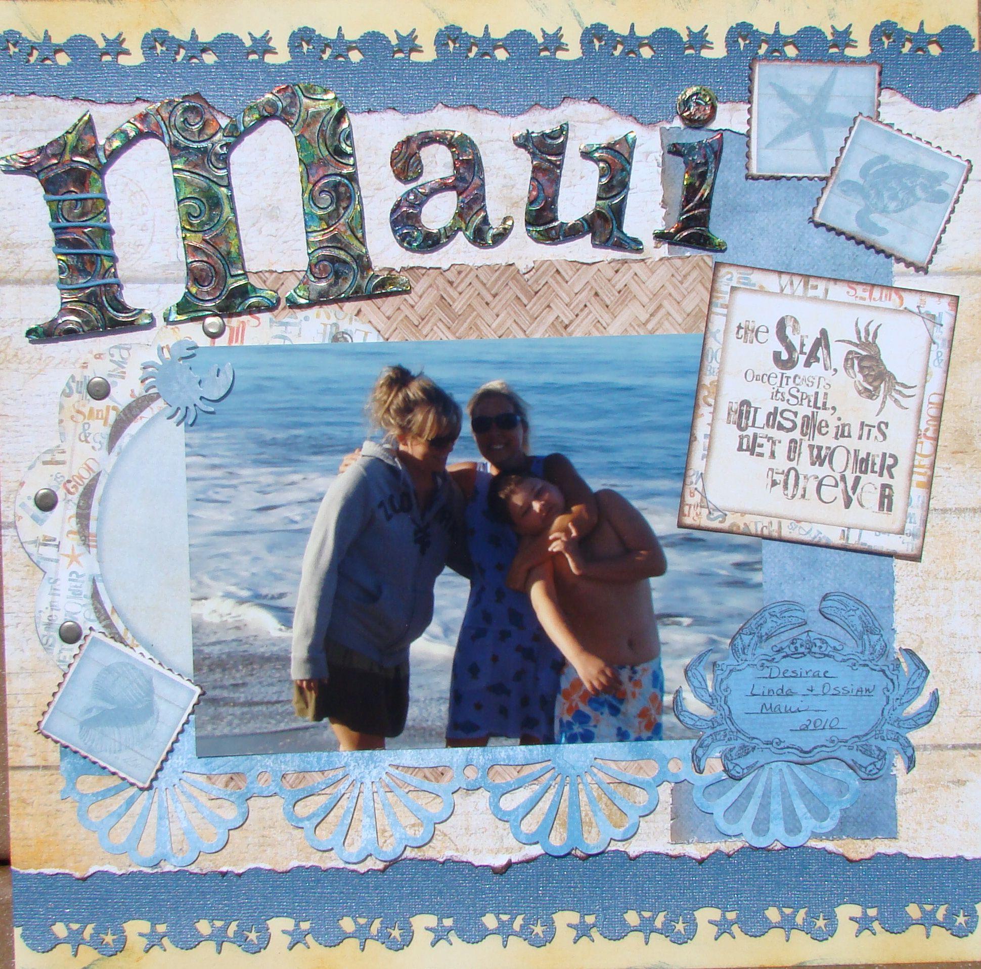 Scrapbook ideas hawaii - Scrapbooking Ideen Scrapbook Layouts Maui Hawaii Vacation Scrapbook Scrapbooks