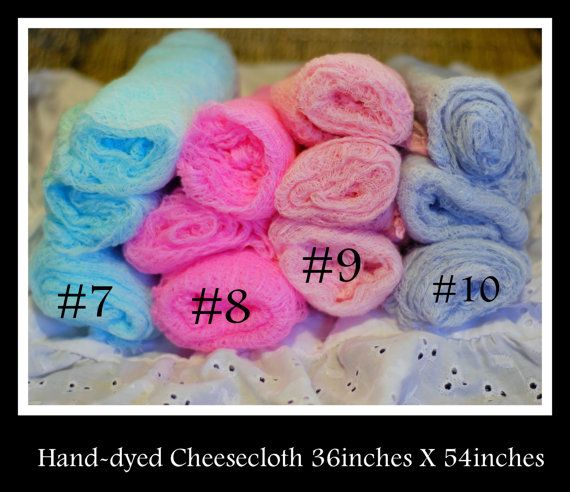 Baby Wrap - Hand dyed cheesecloth for newborn photography
