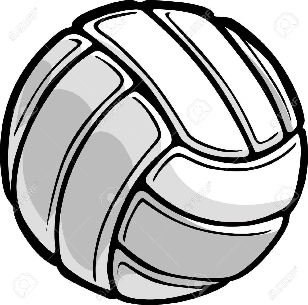 Image Of A Volleyball Ball Illustration Volleyball Illustration Vector Images