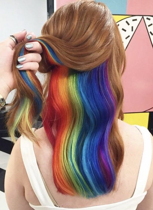 trend watch hidden rainbow hair bunte haare bunt und haar. Black Bedroom Furniture Sets. Home Design Ideas
