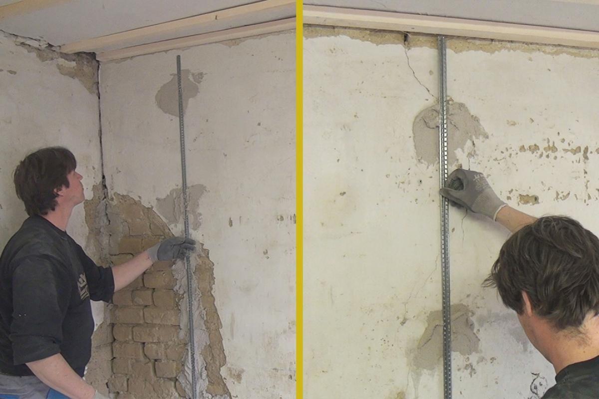 Schnellputzprofile Anbringen Wand Verputzen Verputzen Und Schnell Putzen