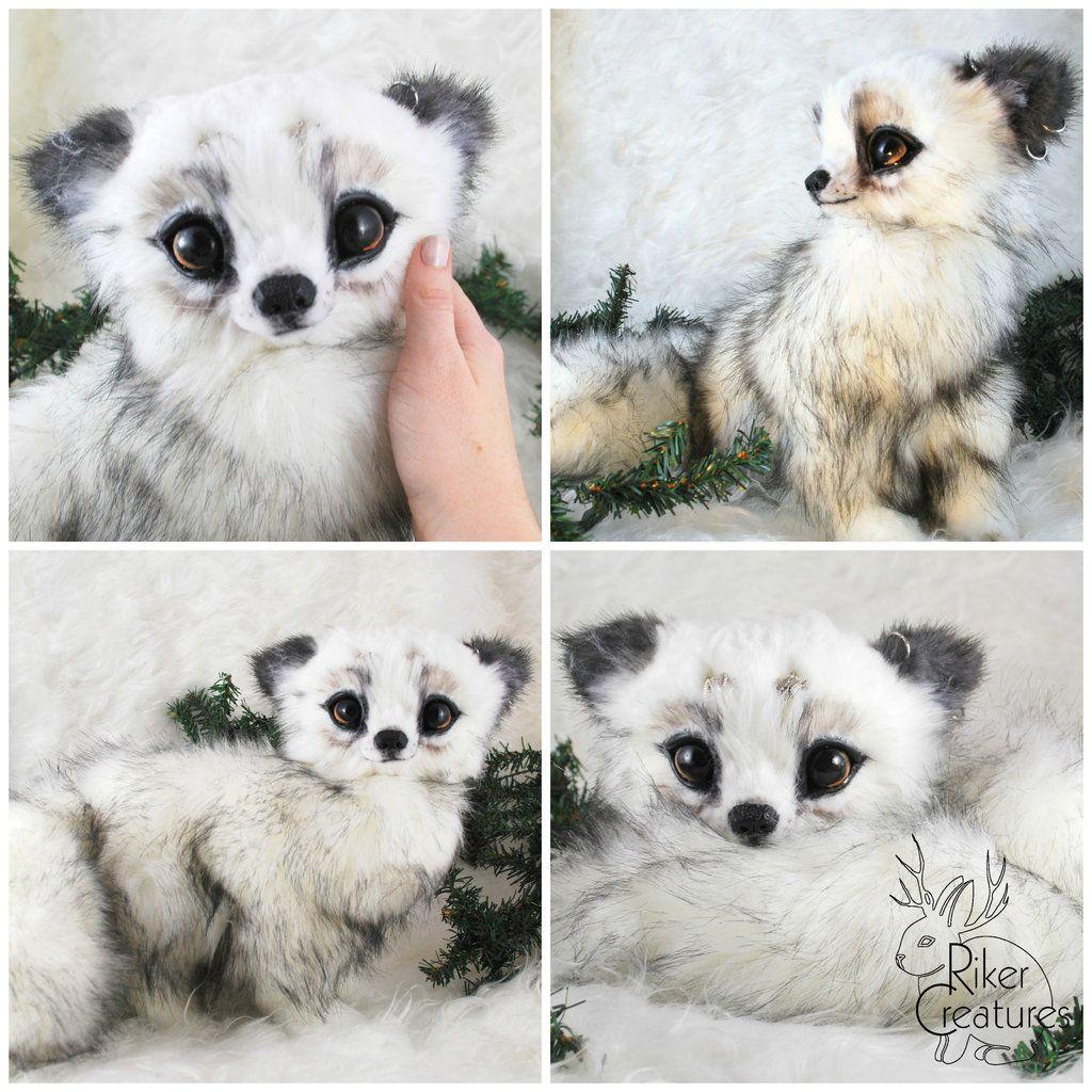 Baby inari fox for sale - Fantasy Arctic Fox Poseable Art Doll Creature By Rikercreatures Deviantart Com