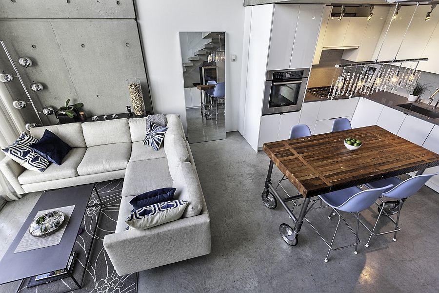 Living Space Of The Chic Apartment Originally Designed By Arthur Erickson Nice Ideas