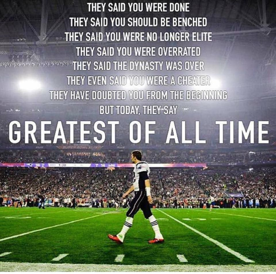Greatest of all Time New england patriots, New england
