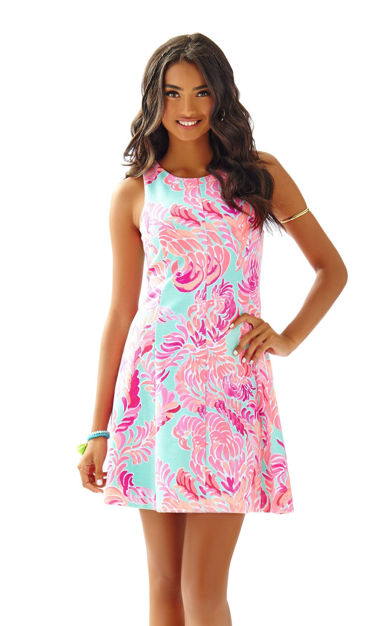 Cove Dress in Poolside Blue Love Birds | Lilly Pulitzer | Pinterest ...