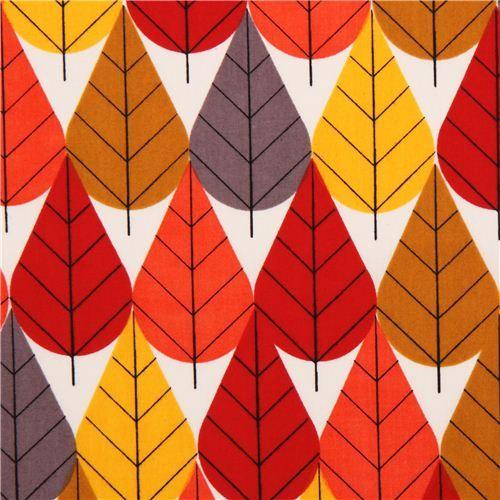 Herbstlaub Blatt Blumen Bio-Stoff birch USA Octoberama Fall 1