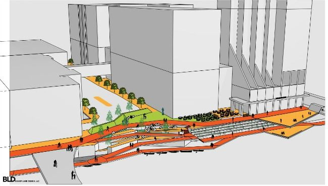 Plan Would Improve Square And Walkway Along Grand River Grands