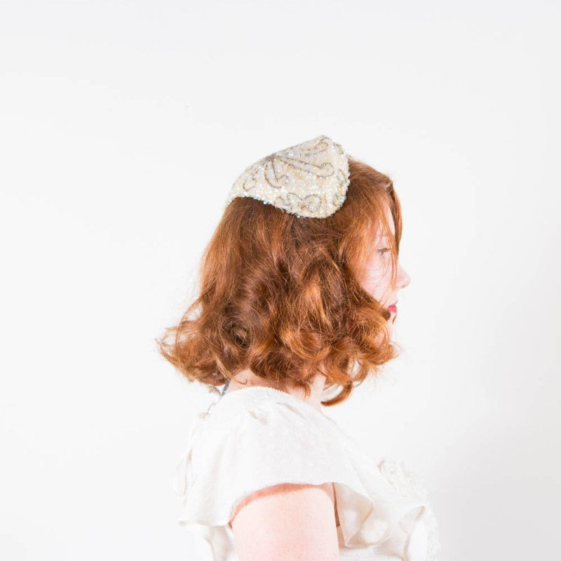 Hairstyle For Brothers Wedding: Details About Vintage 1950s Beaded & Sequined Wedding