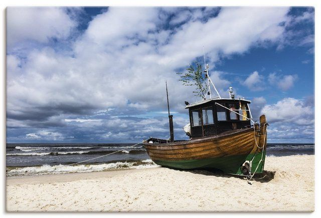 Canvas Print, Art Print »Rico Ködder: Fishing boat in Ahlbeck, Usedom Island, R. Ködder: Pisces