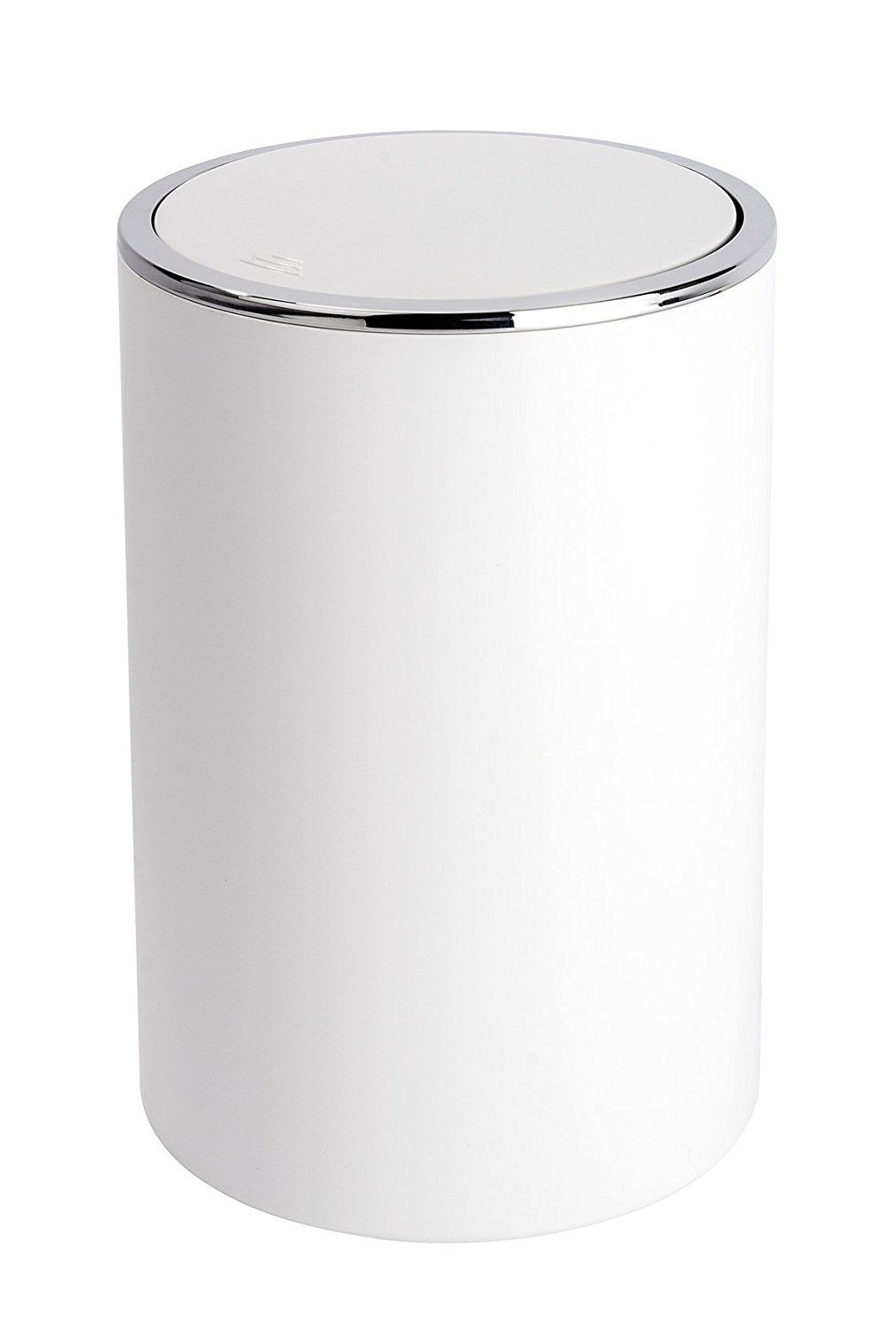 Bathroom Bins | Wenko Inca White Swing Cover Bin 22554100 | New Flat ...