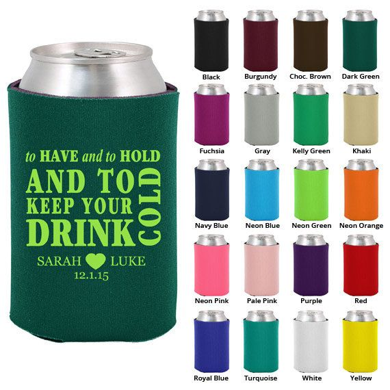 200 drink coozies, $119.  Cute favor idea!  Something people can use again.  I would like to do pale pink and/or white.