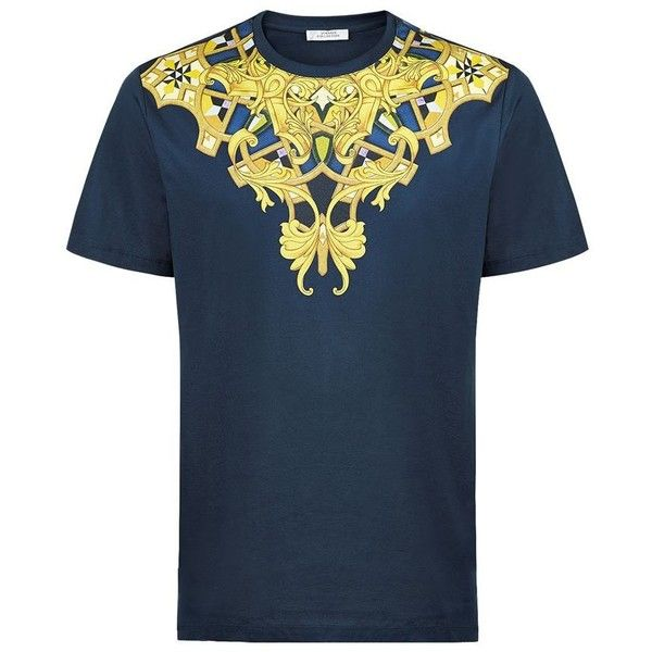 Versace Collection Baroque Moroccan T-Shirt ( 195) ❤ liked on Polyvore  featuring men s fashion, men s clothing, men s shirts, men s t-shirts, mens  short ... 2971eda9941
