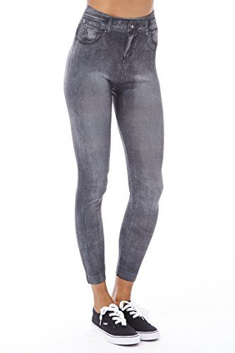 Ladies Womens Jean Detail Elasticated Waistband Denim Stretch Jeggings Long Plain Trousers Club Jeans Leggings One Size Fit Women Jeans Jean Leggings Jeggings