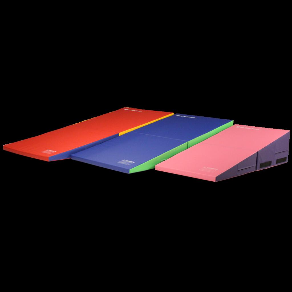 gymnastics wedge general folding mat gym mats purpose tumbling incline ramp exercise