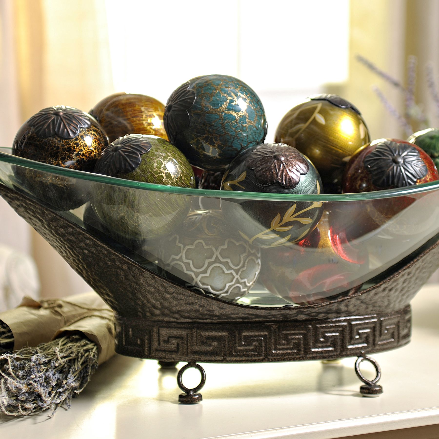 Best Oversized Bronze Bowl Dining Room Centerpiece Glass 400 x 300