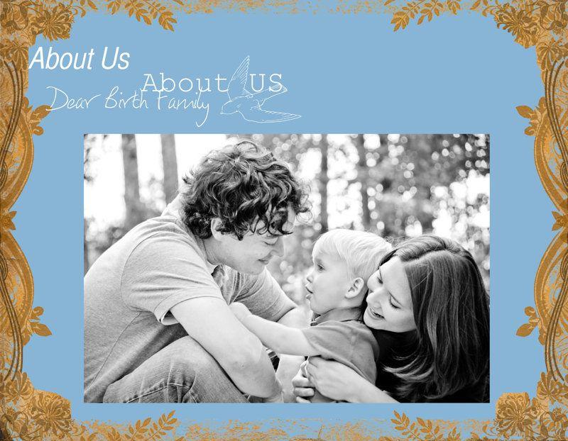 Adoption Profile Book Photobook Template By Amanda