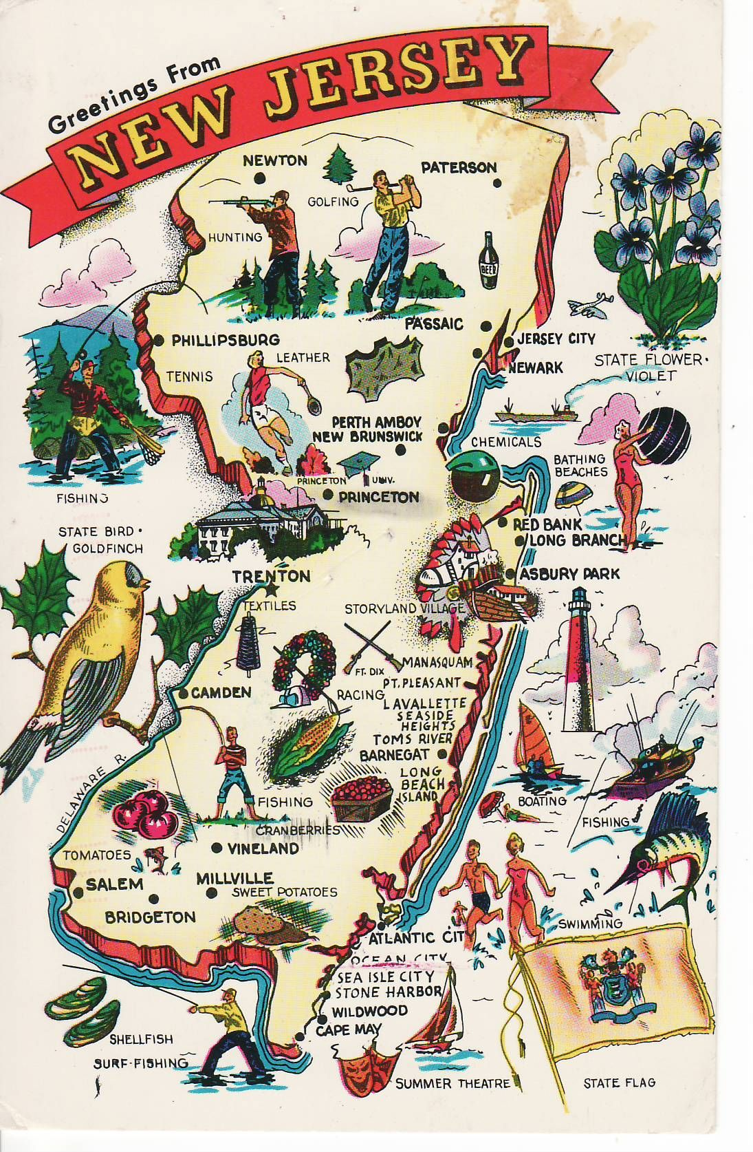 New Jersey First Settled In 1660 Ratifies The Constitution And