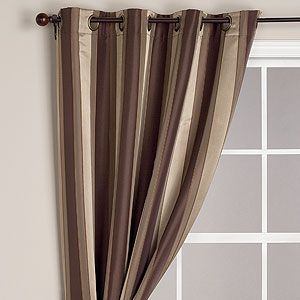 Brown Imperial Striped Grommet Curtains New Bedroom Design Curtains Living Room Home