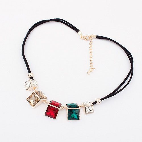 The New European And American Fashion Exaggerated Magical Gemstone Necklaces[US$5.74]shop at www.favorwe.com