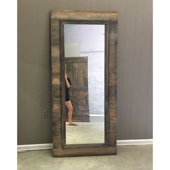 Horizontal Weathered Planks Mirror Frame On The Backside Horizontal Plank Framed Mirror Design Sliding B Framed Mirror Design Mirror Frames Grey Home Decor
