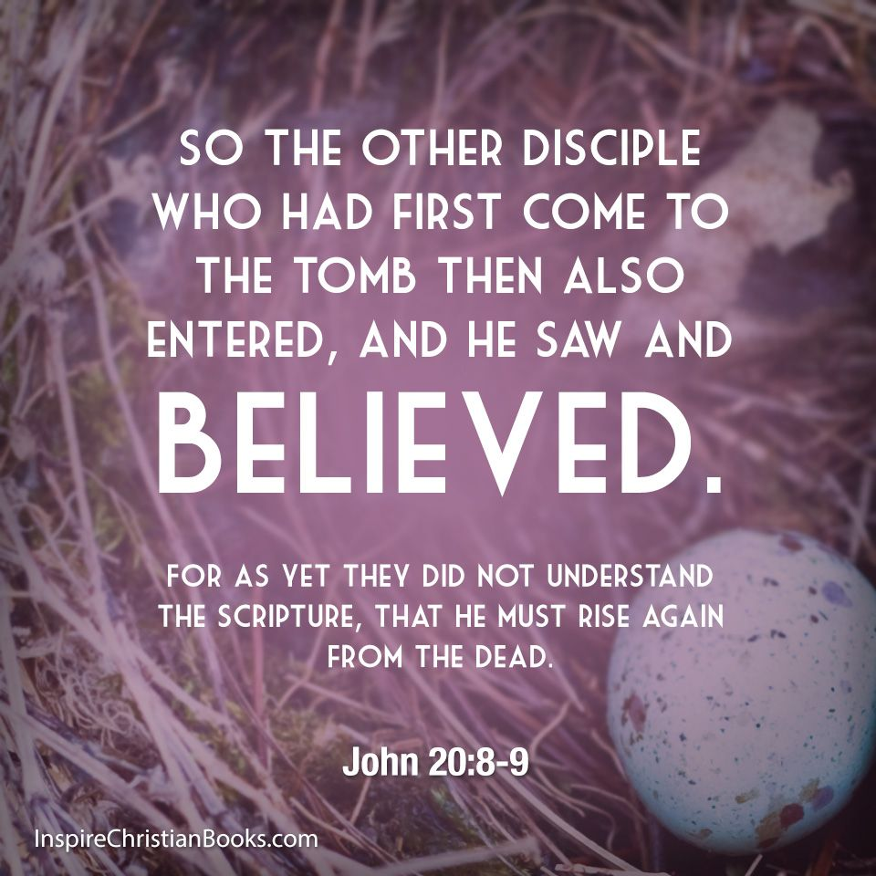 So The Other Disciple Who Had First Come To The Tomb Then Also Entered And He Saw And Believed For As Yet They Did Not Disciple Christian Pictures Scripture