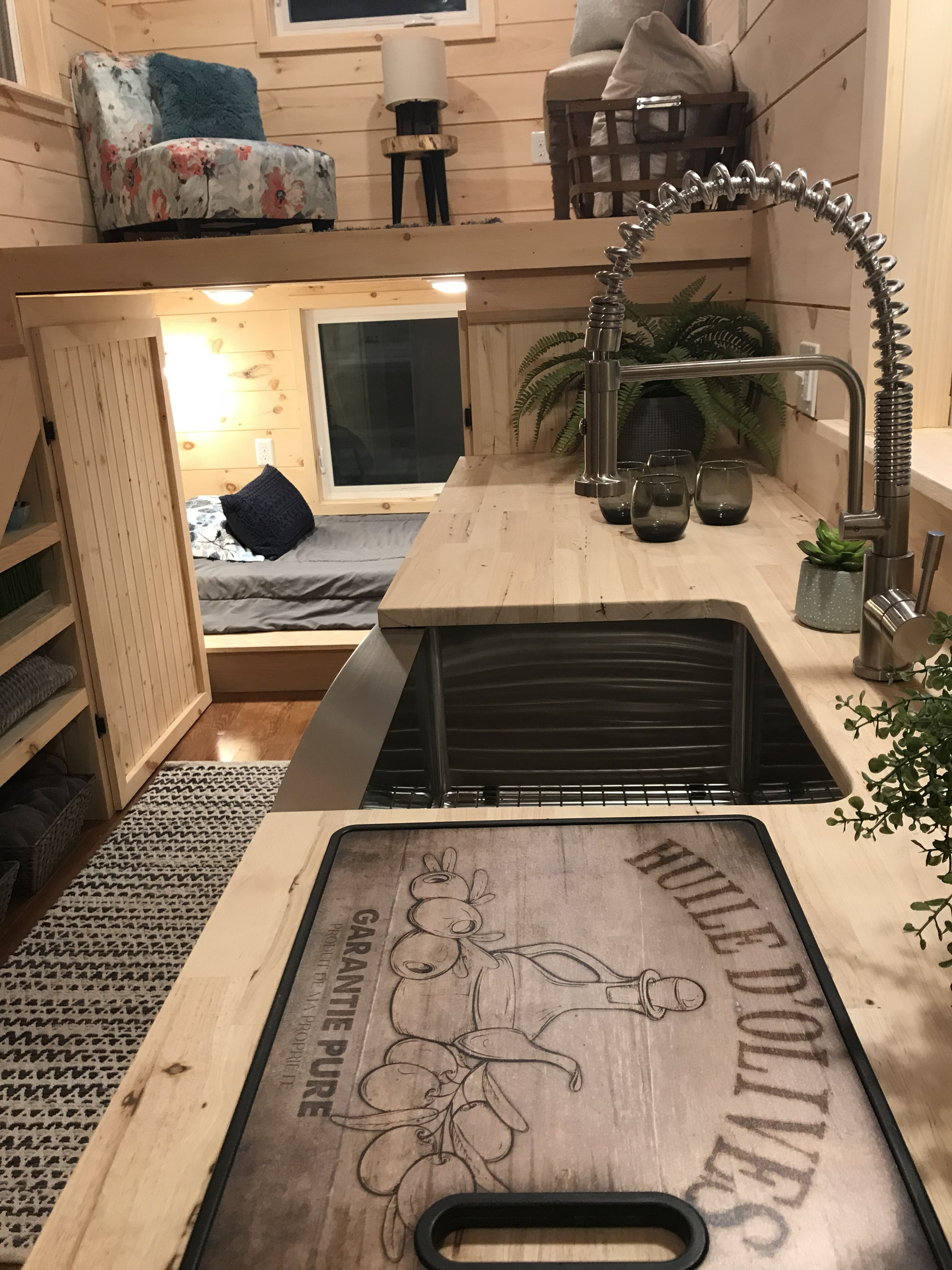 Sweet Dream Is An 8 X 22 Incredible Tiny Home With A Base Price Of 36 250 Plus The Customer S C Tiny House Cabin Tiny House Plans Affordable Interior Design